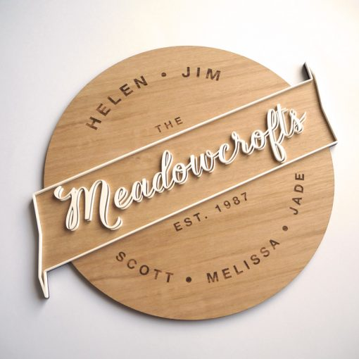 Layered Name Plaque